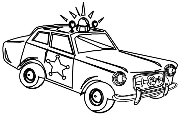 Sheriff Police Car Coloring Page