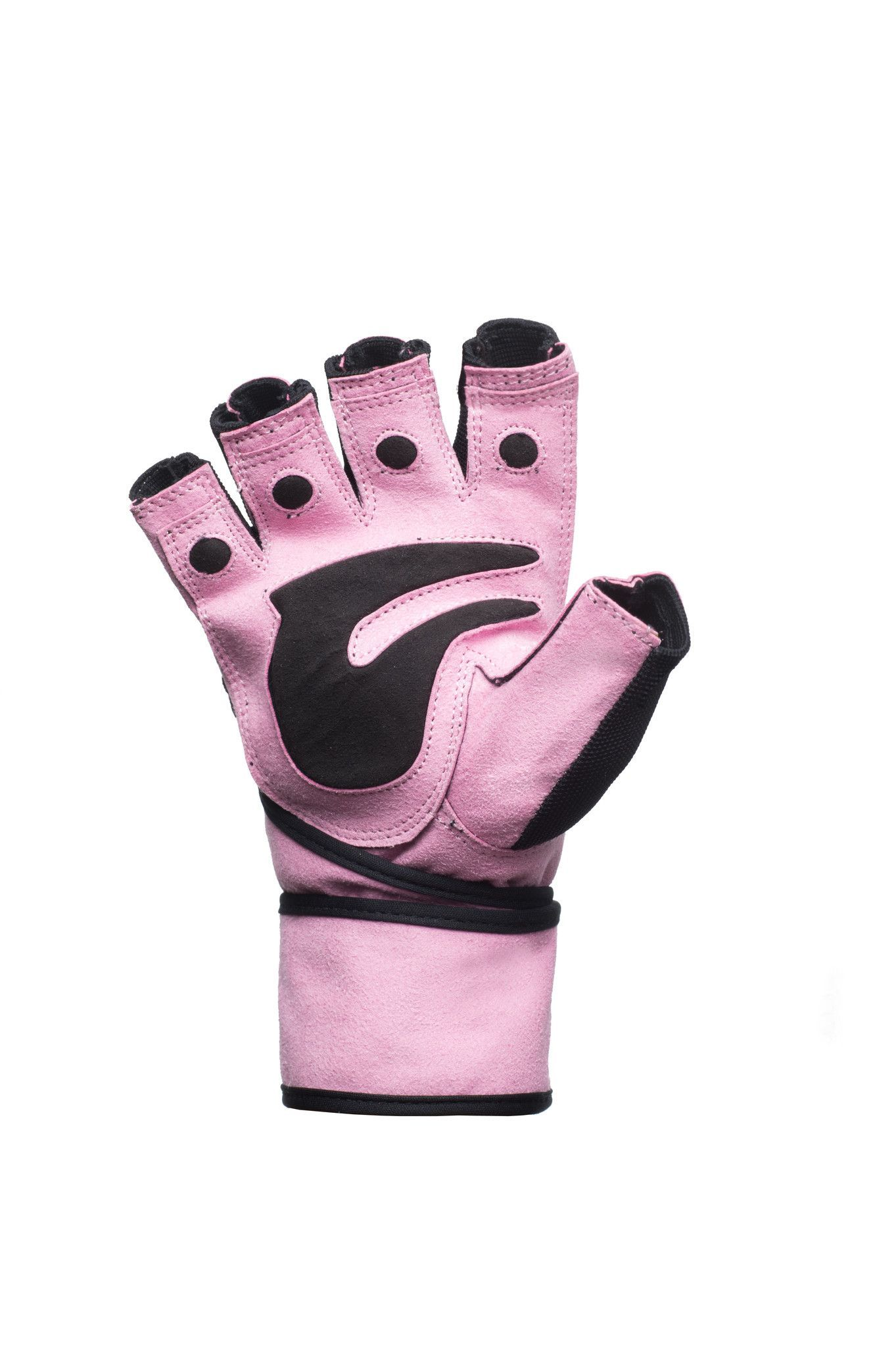 Motorcycle gloves carpal tunnel syndrome - Ladies Heavy Duty Pink Weight Lifting Gloves With Padded Palm And Wrist Wraps
