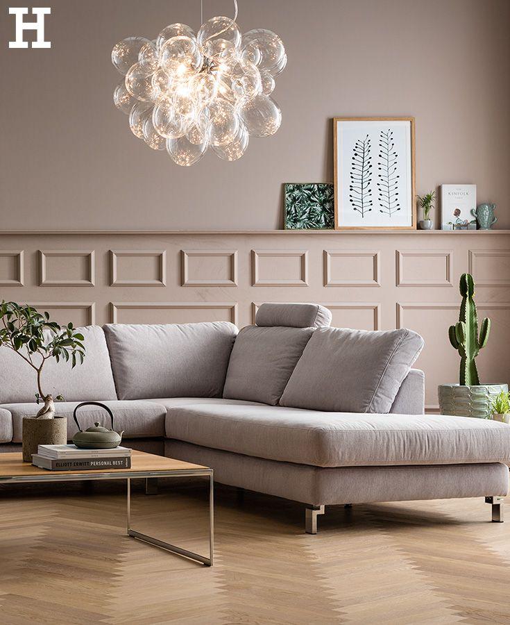 Schlichte Eleganz fürs Wohnzimmer #sofa #ecke #grau #schlicht