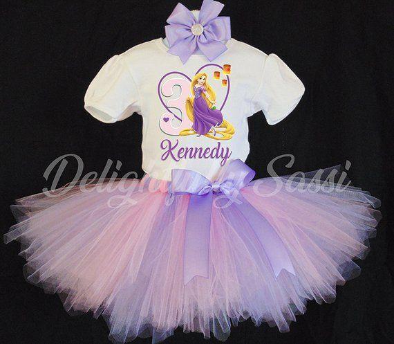 021b8c34e48a8 Rapunzel Birthday Tutu, Princess Birthday Outfit, Rapunzel Tutu Set, Birthday  Tutu, Personalized Tut