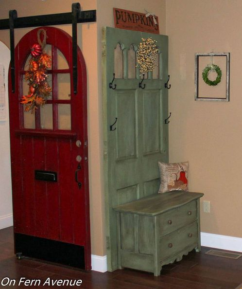 foyer entryway door dresser hall tree upcycle diy foyer painted furniture repurposing : upcycling doors - pezcame.com