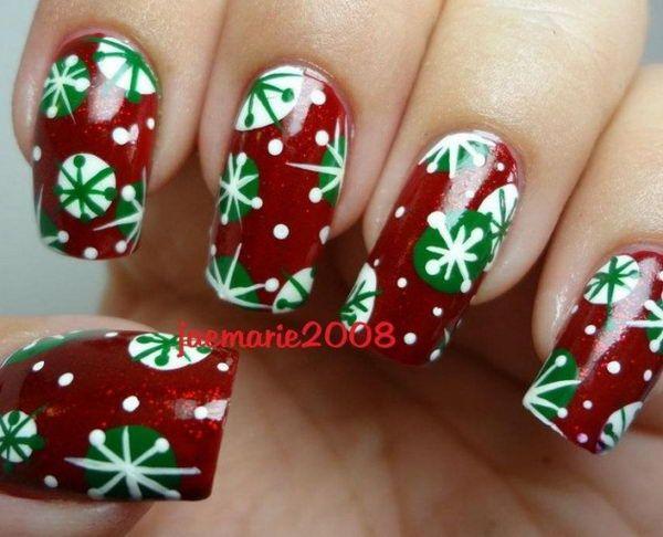 25 Cool Christmas Nail Designs Winter Nails Nail Nail And Fun Nails