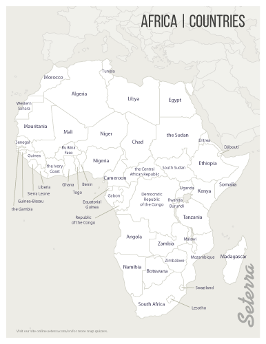 Map Quiz Africa Africa: Countries Printables   Map Quiz Game | Africa map, African