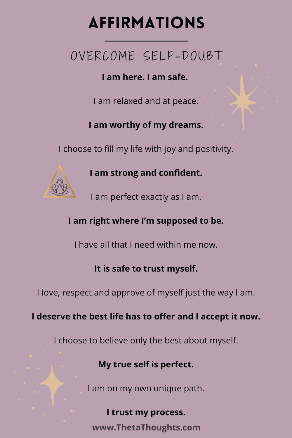 Positive Affirmations to Overcome Self-Doubt and Boost Confidence