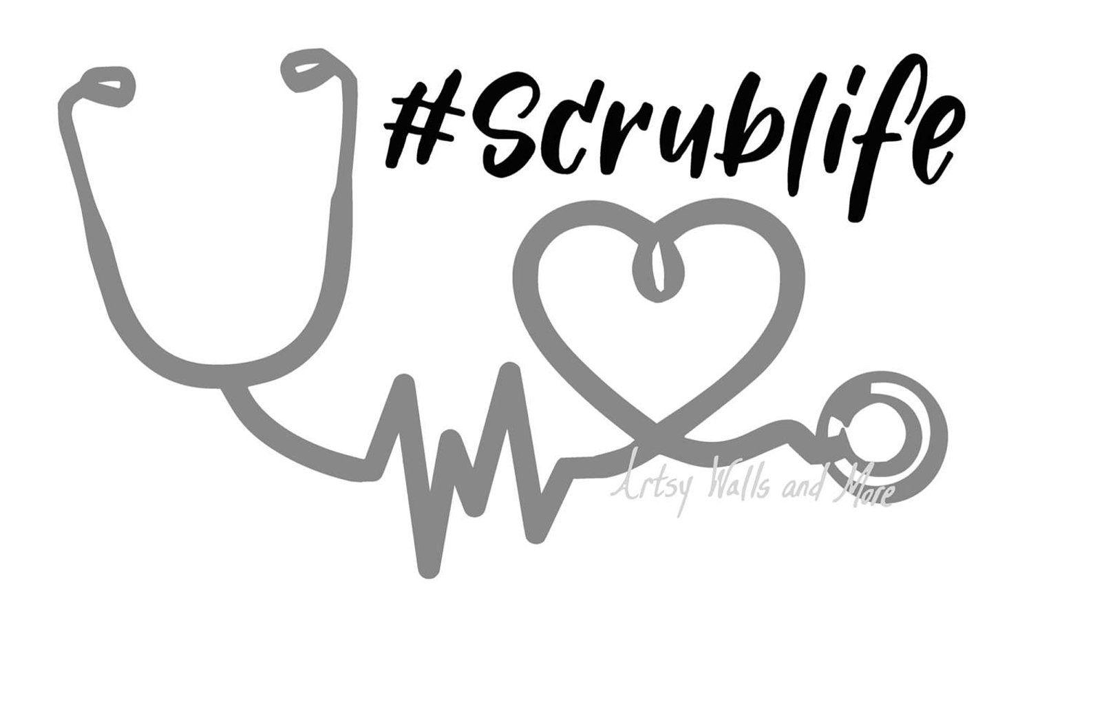 rn Cricut cna medical PNG SVG job Sihouette Cameo Nurse Life Stethoscope Cut File Vector doctor JPEG