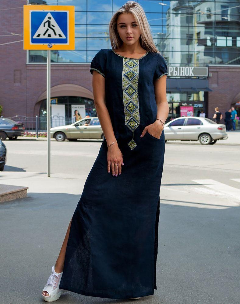 "509dabdcb9563c0 Платье ""Буковель"" лен #vishivka #vishivanka #вышивка #вышиванка #красота #"