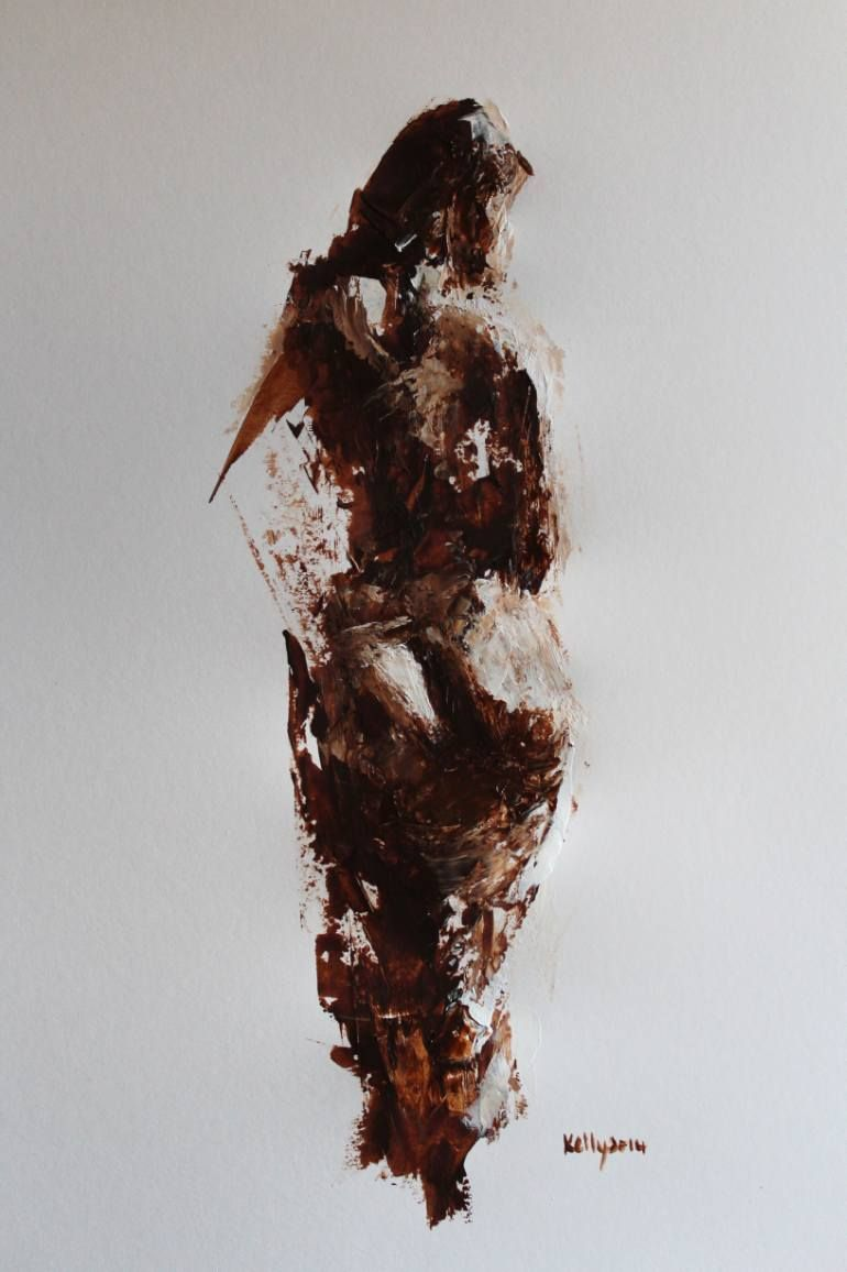 """Saatchi Art Artist Terry Kelly;  Slikarstvo, """"Nude Študija z Wrap"""" #art"""