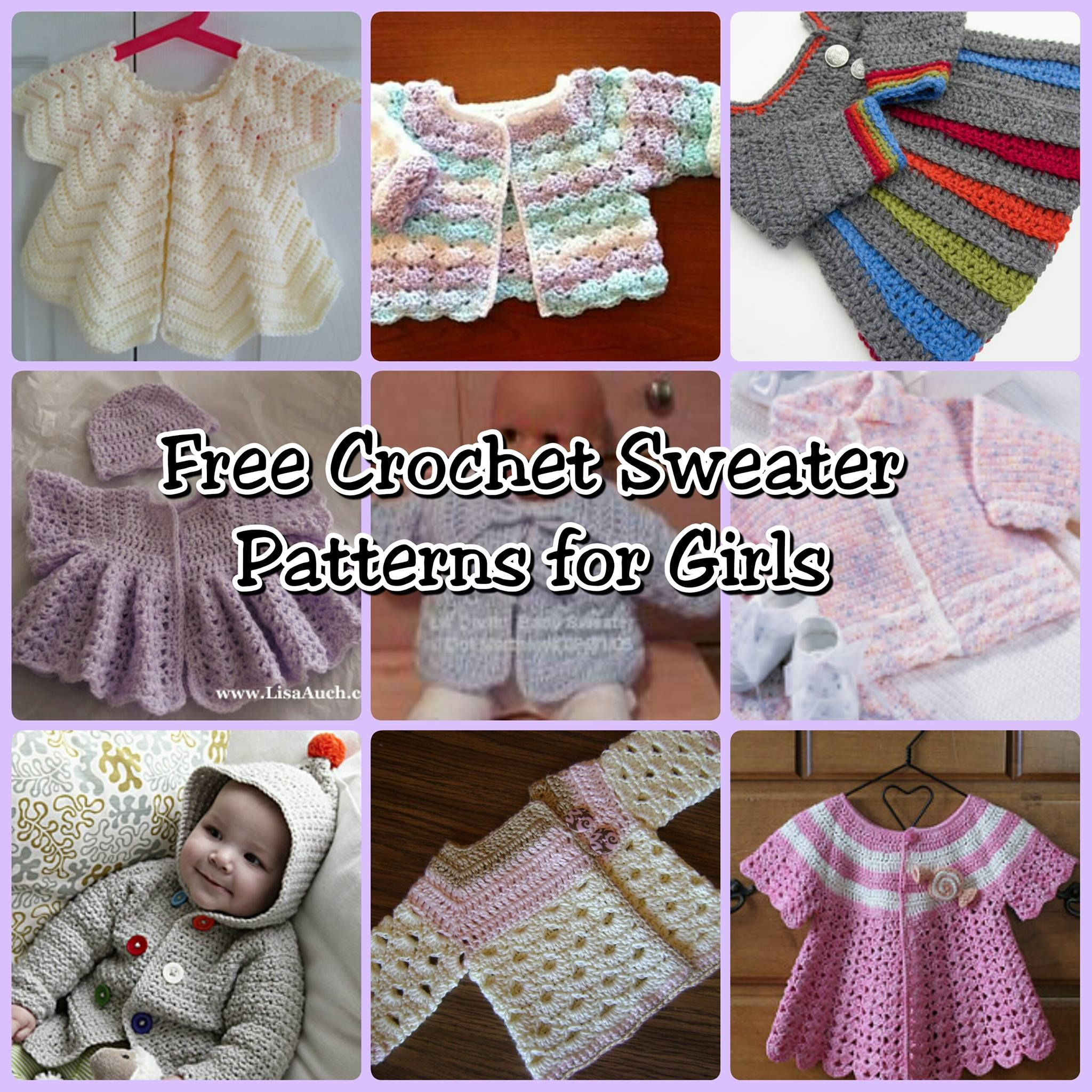 FREE Girls Sweater Crochet Patterns | Crochet, Girls and Crochet baby