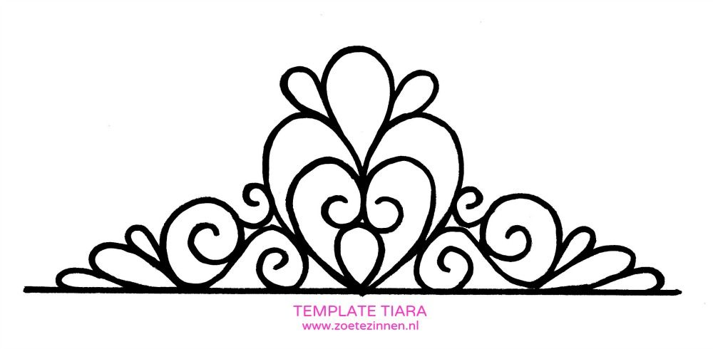 Tiara template pesquisa google baby shower pinte for Free printable tiara template