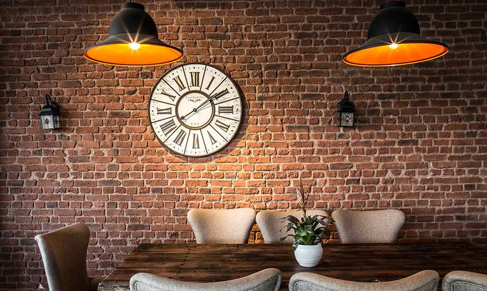 awesome red brick wall interior design | Heritage Faux brick Wall panels 263 Red #fauxbrick # ...