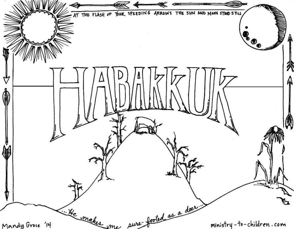 Habakkuk Book Of The Bible Coloring Page