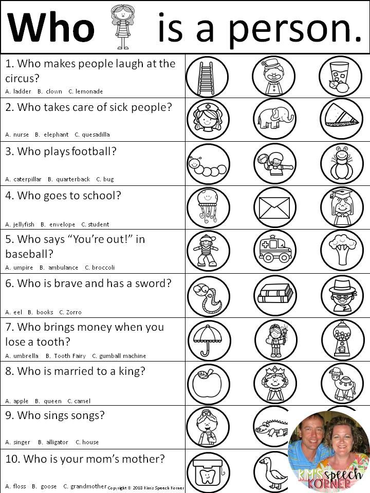 Dot Artsy WH Questions - Activities/Worksheets with ...