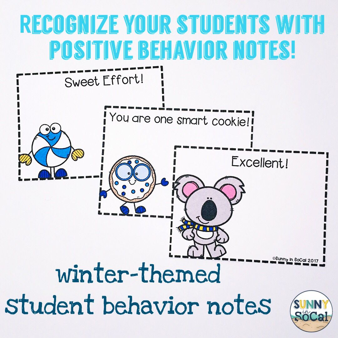 Positive Notes Home To Parents Winter Themed