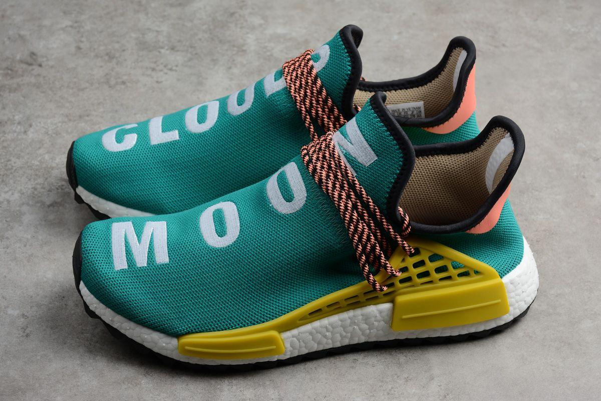 New adidas Pharrell NMD Boost Race Hu Trail Sun GlowCore