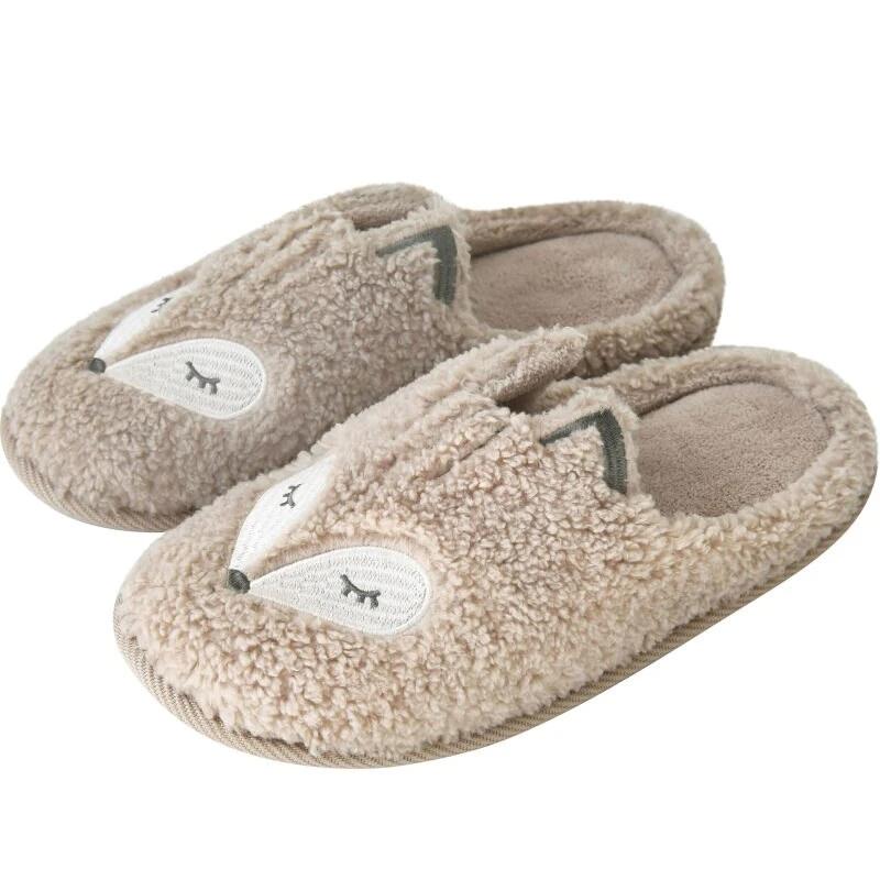 Photo of MECEBOM Women Cute Animal Fur Nonslip Memory Foam Cotton House Slippers