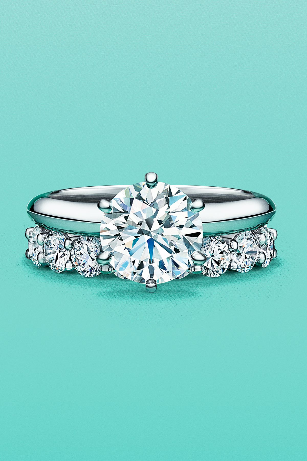 The Tiffany Setting And Tiffany Embrace Rings In Platinum