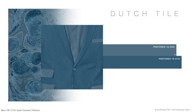 #FashionSnoops FW 17/18 color on #WeConnectFashion. Men's: Dutch Tile - Soul Earth Tones Palette