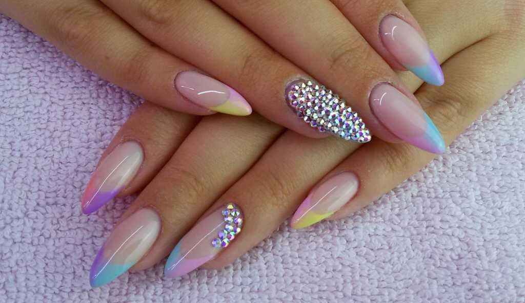 Summer nail design for stiletto shaped nails :: one1lady.com ...