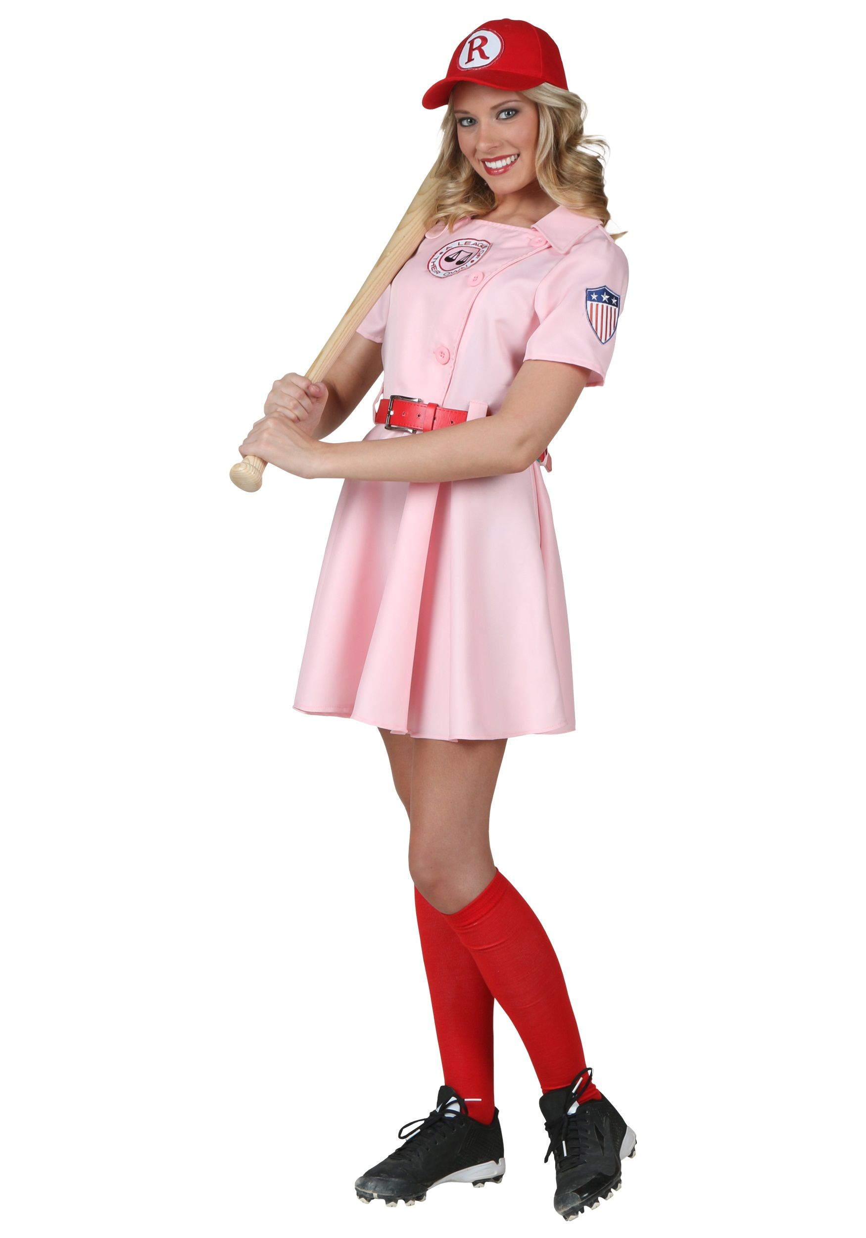 Plus Size League of Their Own Dottie Costume (arm patch