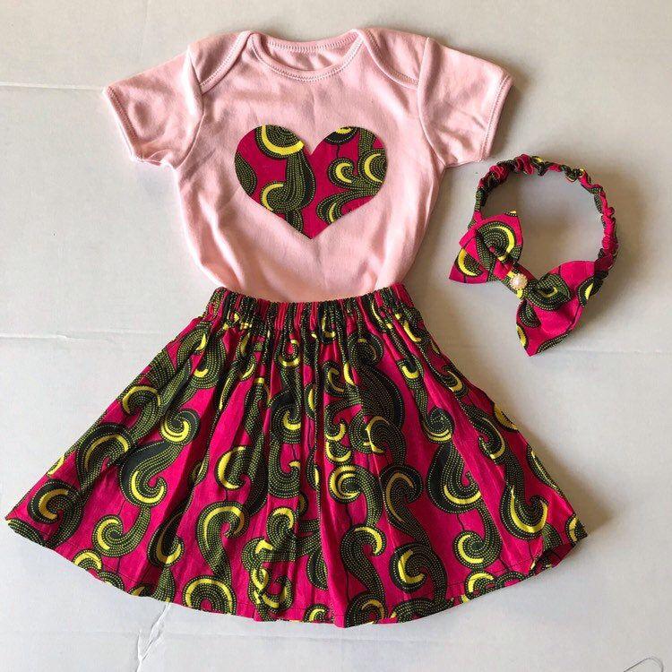 African Print Baby Skirt /& Matching Headband Baby Ankara Skirt Ankara Headband