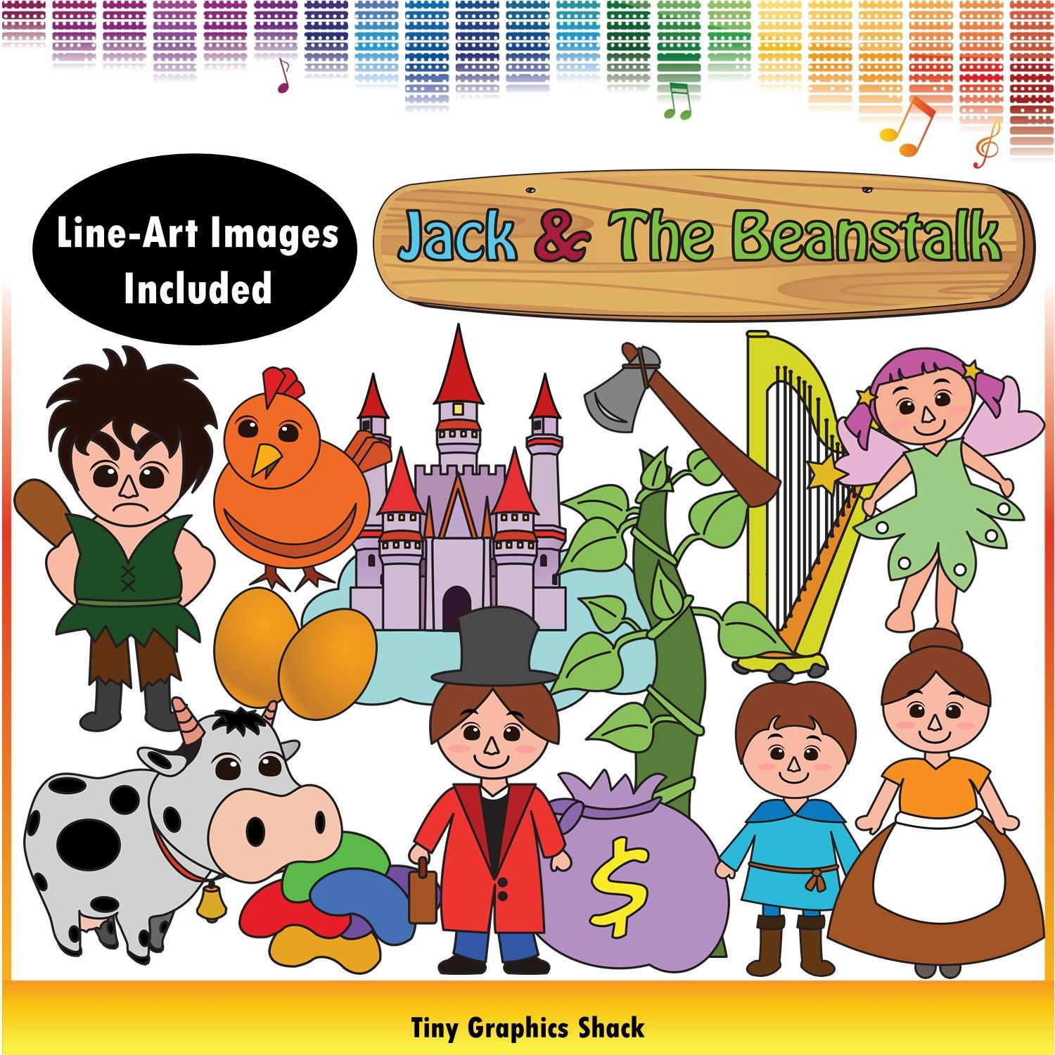 Jack and the Beanstalk Clip Art | Wooden signs, Mothers and The magic