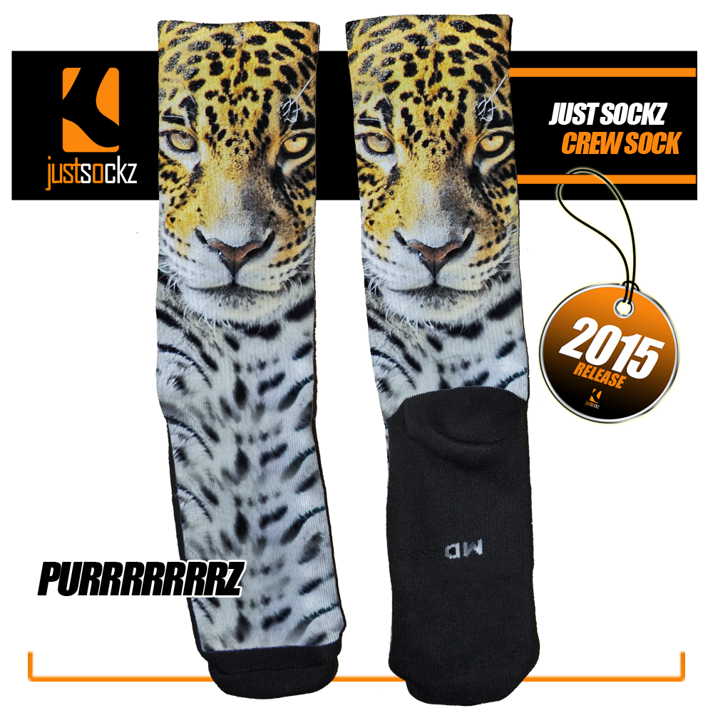 Leopard Purrzzzz Custom Sock by Just Sockz www.justsockz.com