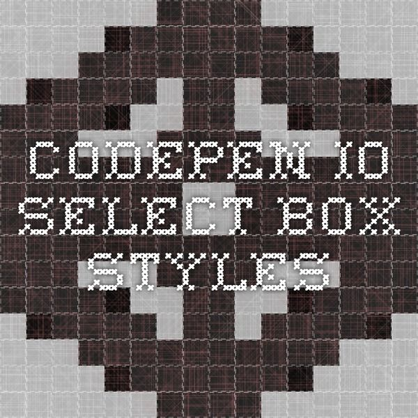 codepen io - select box styles | WebDev: Resources | Background css