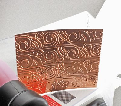 Embossing Metal With a Letter Press or Pasta Machine