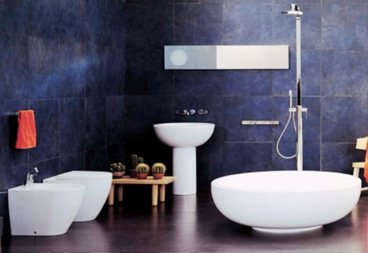 Superb 38 Dark Blue Bathroom Wall Tiles Ideas And Pictures Images