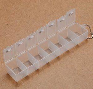 City 7 Jours Petite Boite A Pilules Plastique Medicament Portable Poche Pilulier Rangement Blanc Pilulier Petite Boite Boite