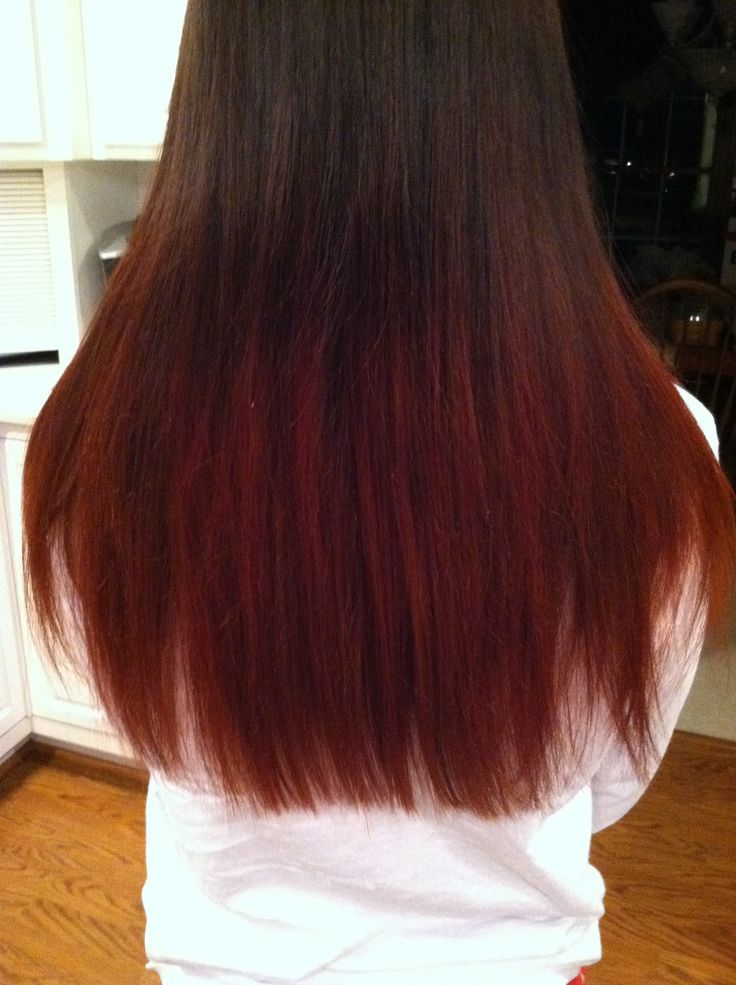 Cool Medium Brown To Red Ombre Hair Ombre Brown To Red Yes Please Hair Pinterest Amber Hair Red Ombre Hair Hair