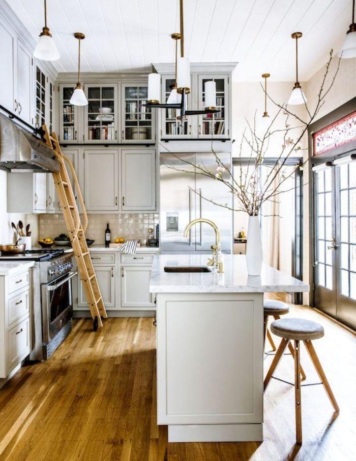 Barras de cocina cocina en estilo industrial con barra y for Barra estilo industrial