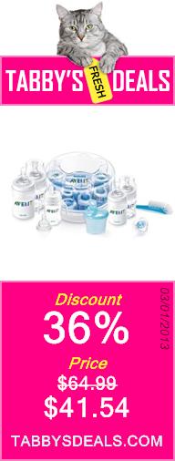 Avent Infant 9-Piece Bottle & Sterilizer Starter Set $41.54