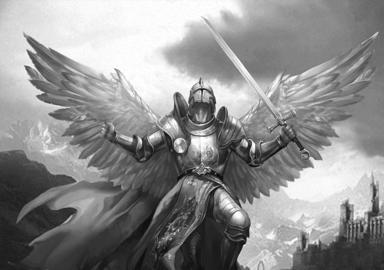 Картинка крылатый воин тёплым место