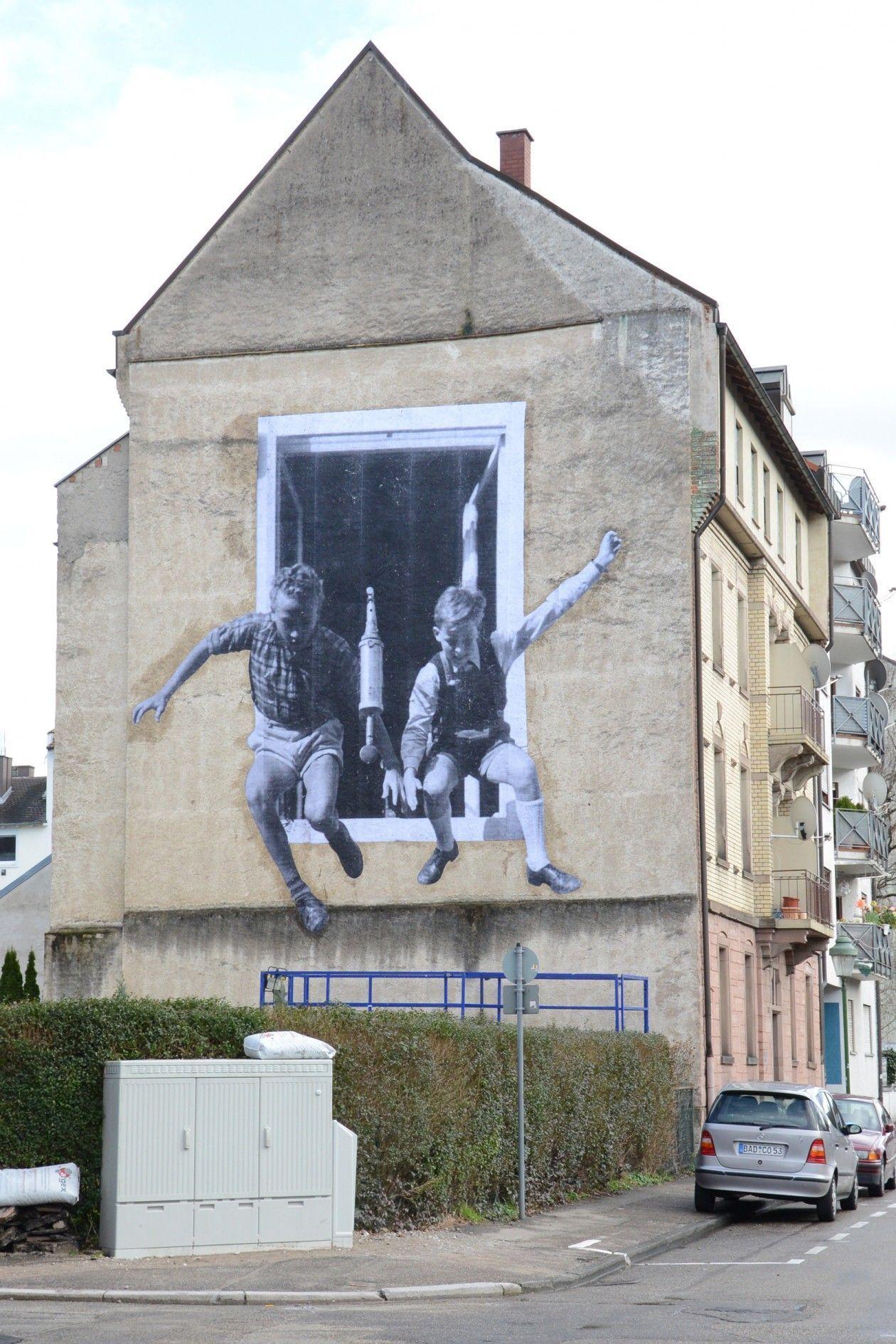 French artist JR … … Art Sidewalk, Street, Sand, etc