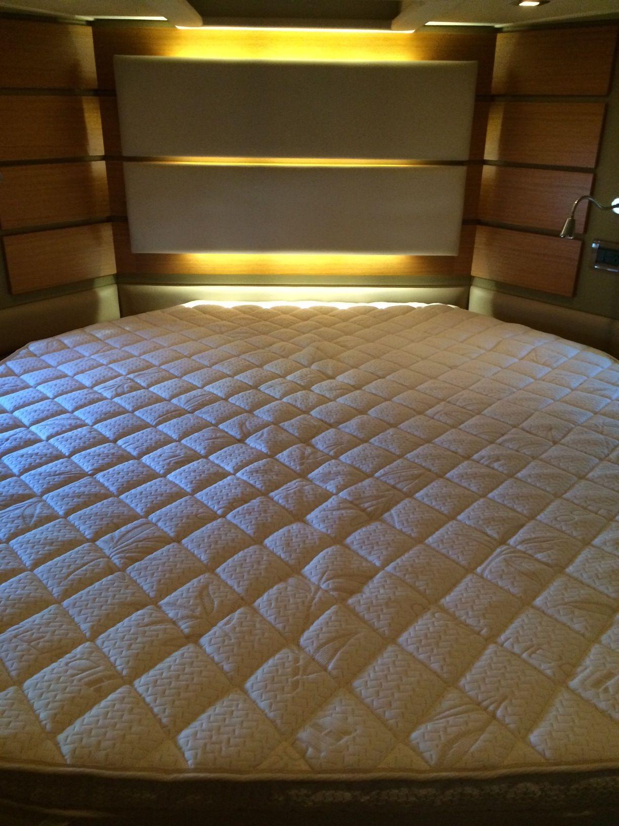 forward cabin 2014 azimut 60 custom mattress topper custom boat