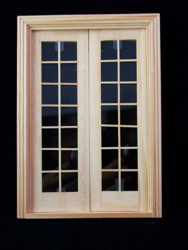 Door -Double French - wooden dollhouse miniature  6011 1/12 scale Houseworks #Houseworks