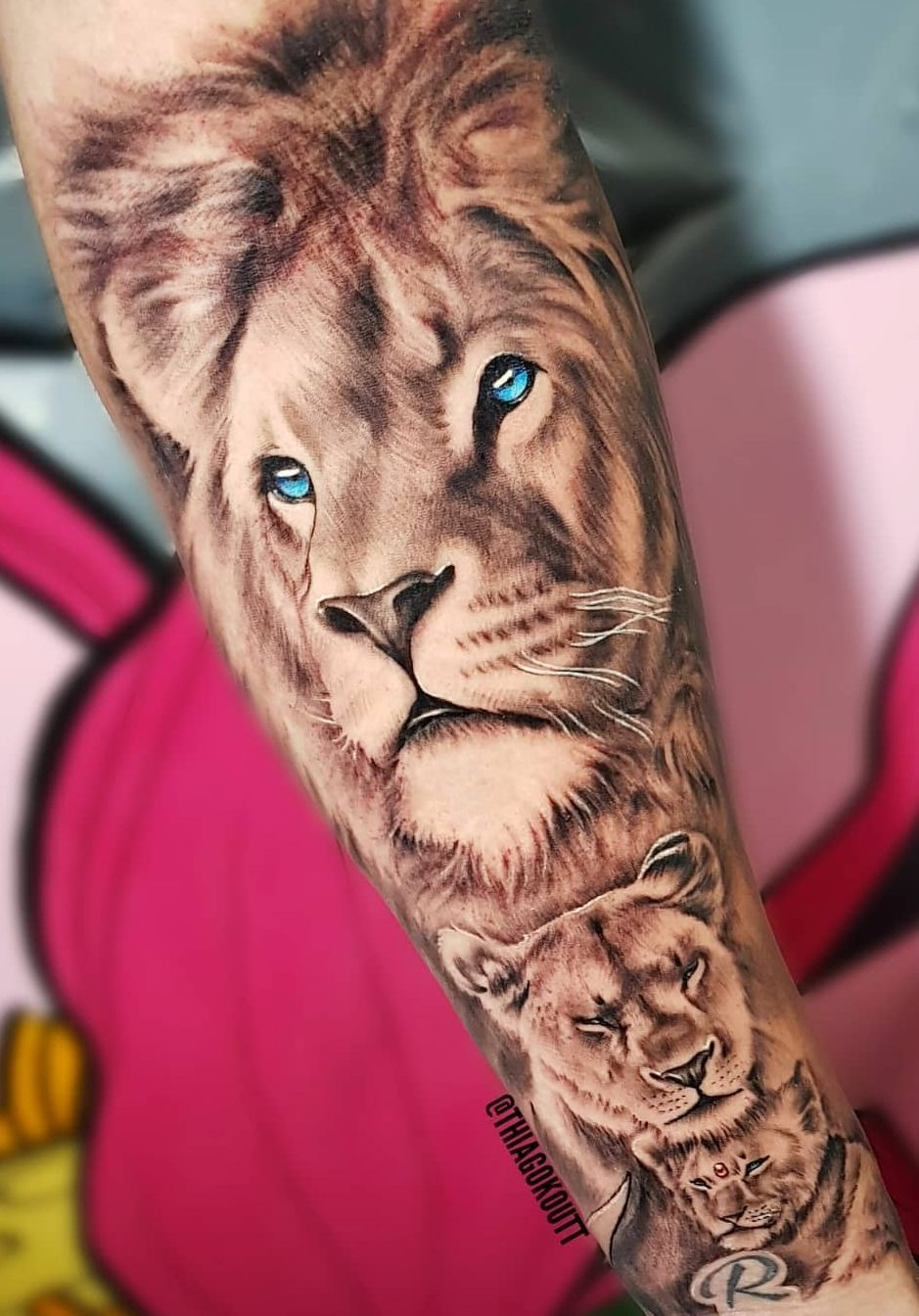 10++ Awesome Lion eyes tattoo small image ideas