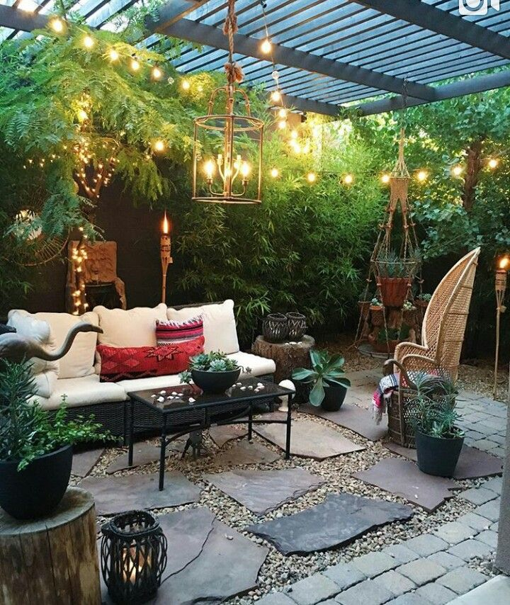 Outdoor sitting area  yard  porch areas in 2018  Pinterest  Sitting Area Backyard and Patios