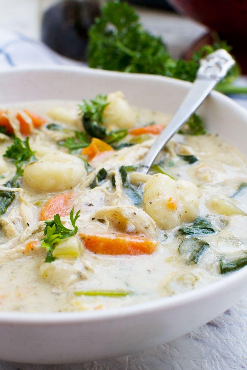 Easy crockpot chicken gnocchi soup (Olive Garden copycat