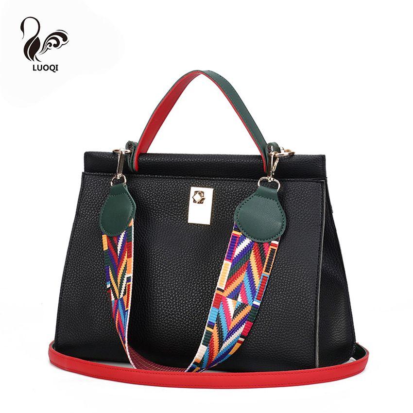 Colorful Ribbon Women Handbag Lock Shoulder Bag PU Leather Crossbody  Messenger Bag Designer Bags Famous Brand Women Bags Item Type  Handbags  Style  Fashion ... b78af314a84d3