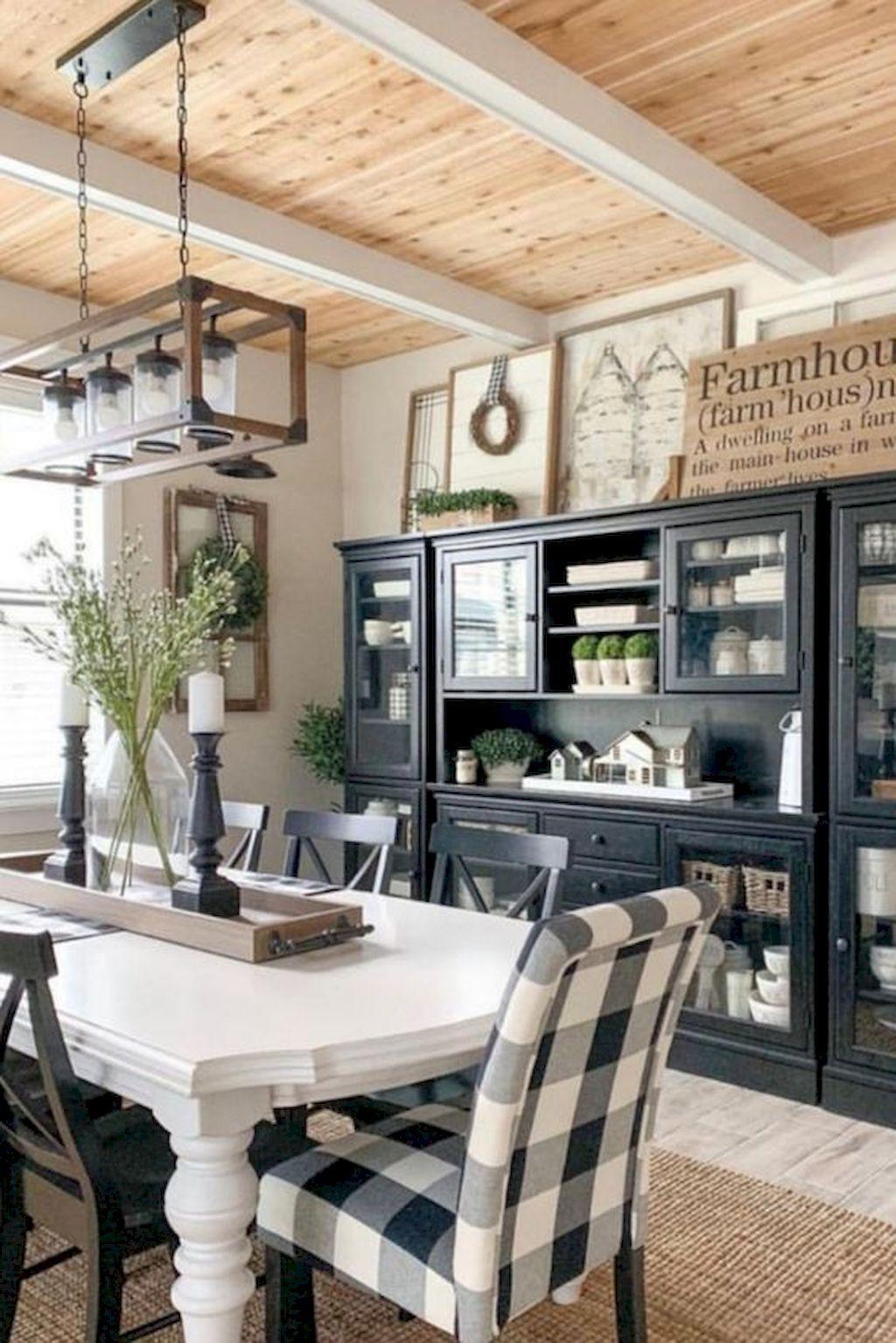85 Wonderful Farmhouse Style Dining Room Design Ideas Farmhouse