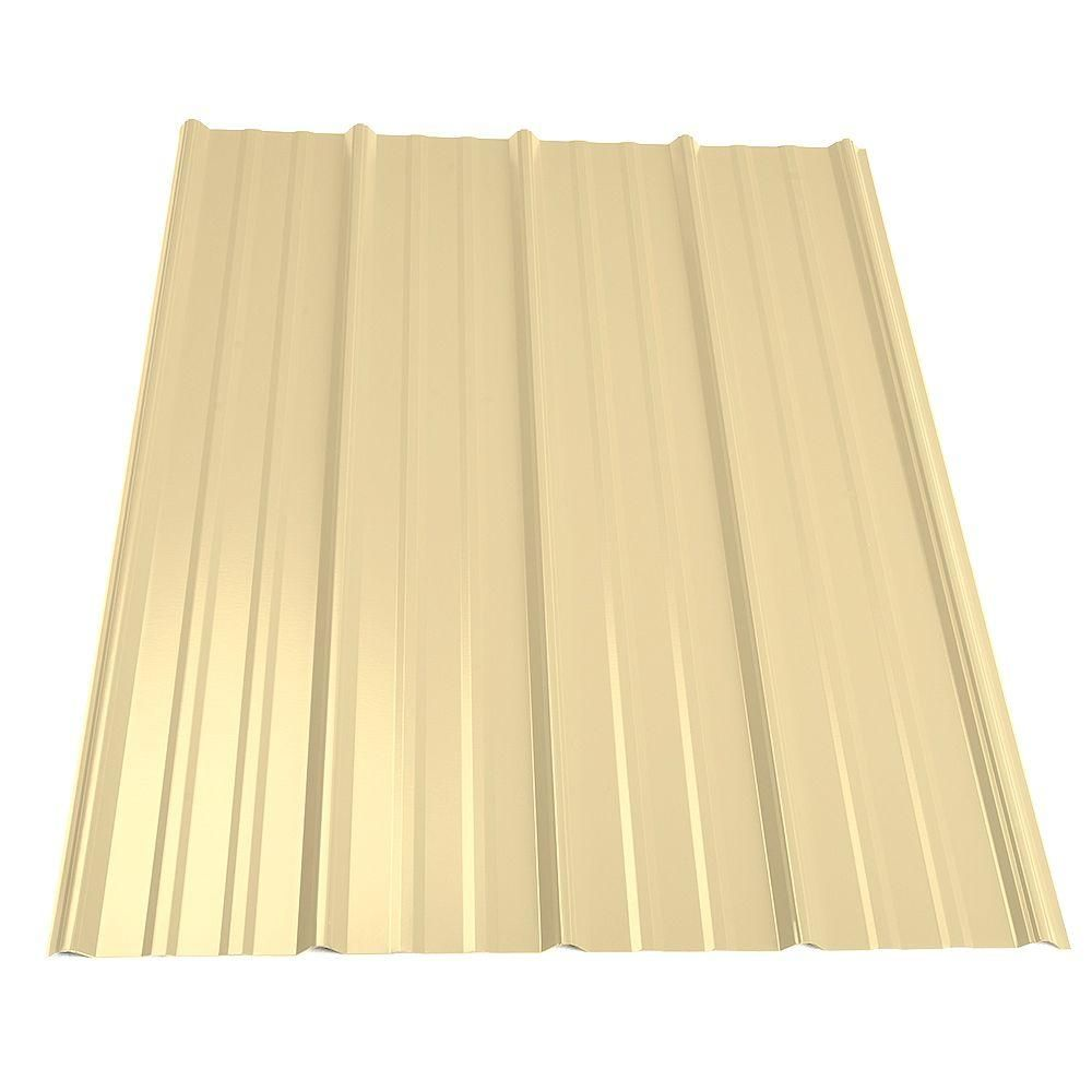 Best 3 Ft 6 In Classic Rib Steel Roof Panel In Light Stone Steel Roof Panels And Products 640 x 480