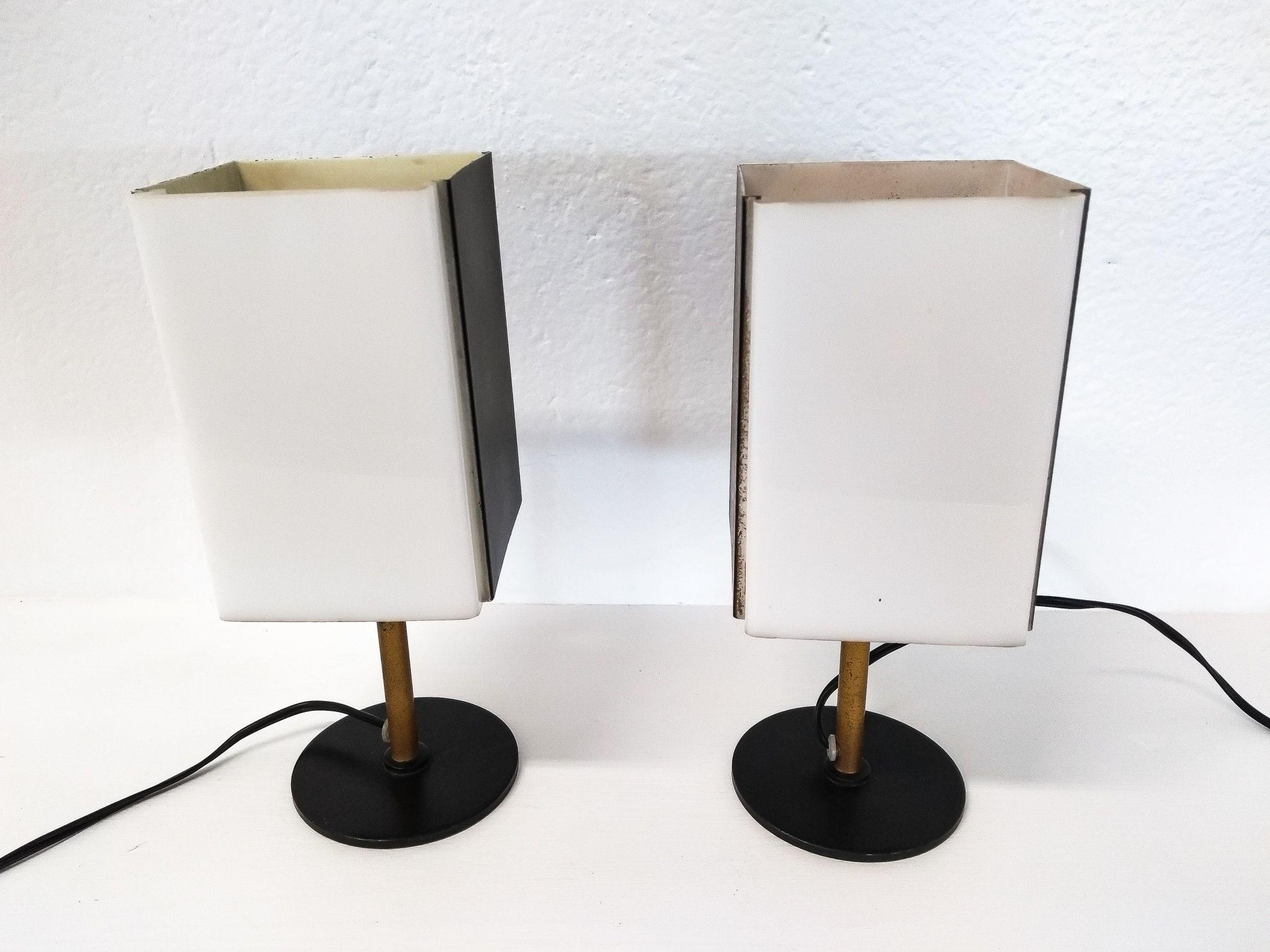Coppia di lampade da tavolo di design Stilux Milano Anni