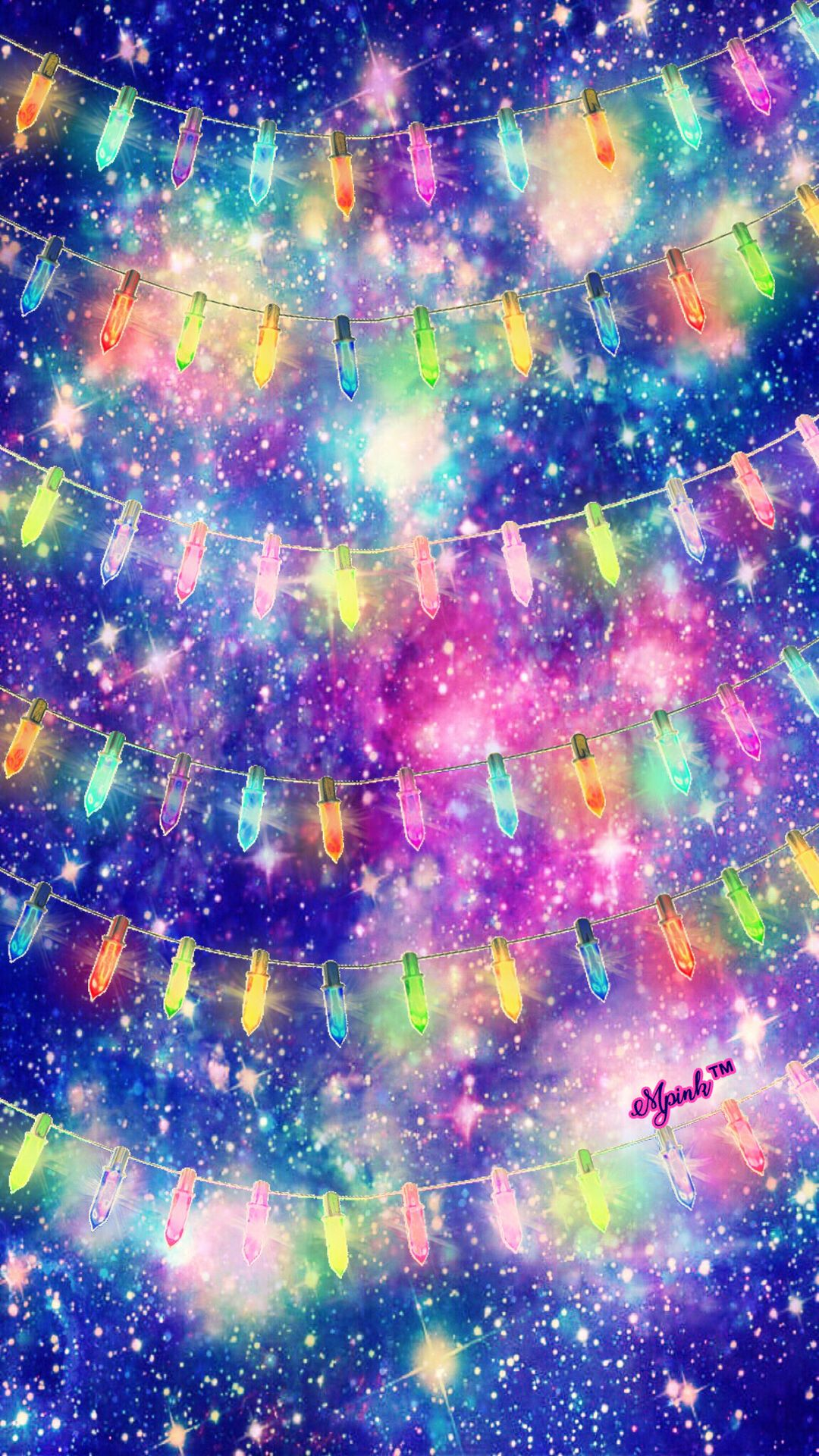 Christmas lights galaxy wallpaper androidwallpaper - Galaxy christmas wallpaper ...