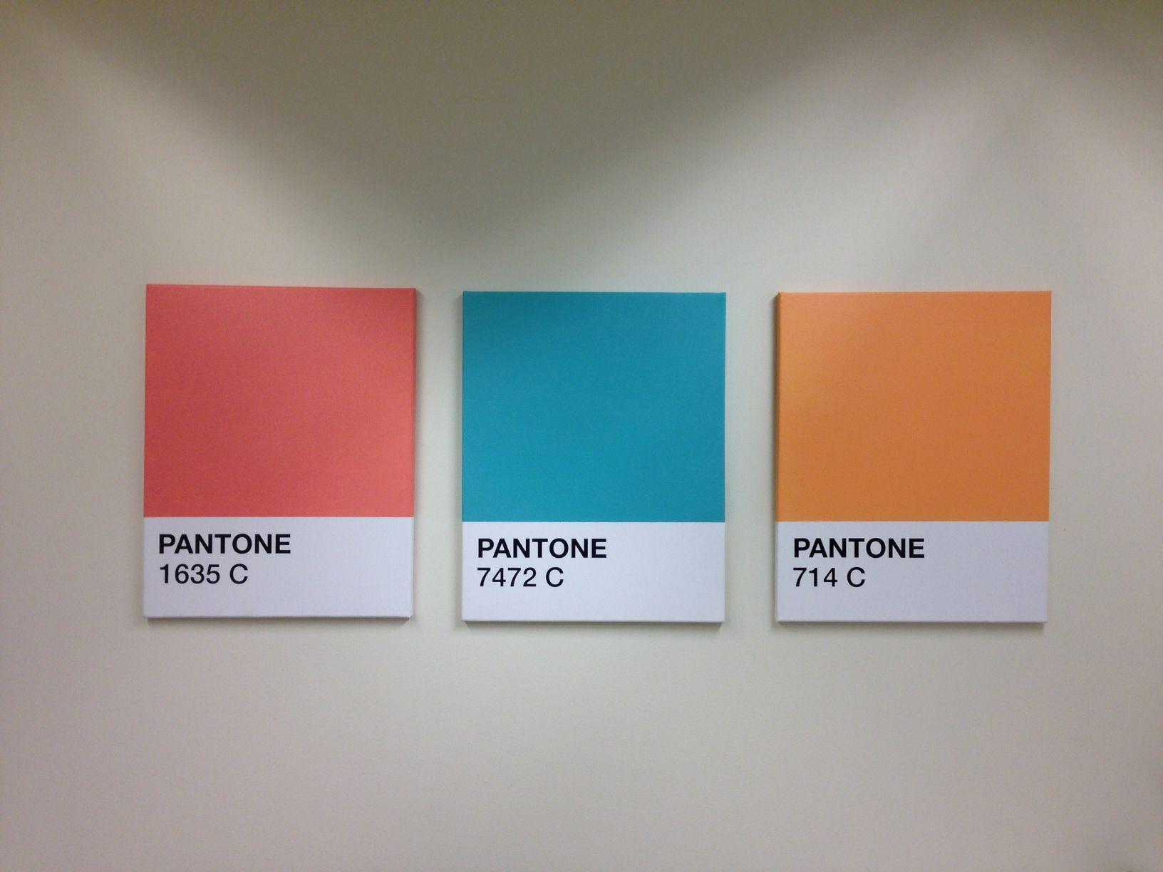 6a5c9dc4f58d Pantone Canvas Wall Art Color Swatch | Color Me Happy | Canvas art ...