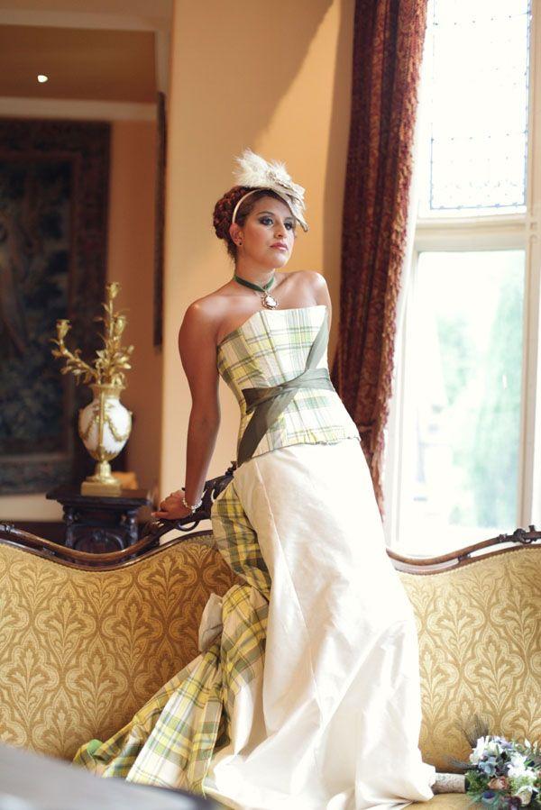 Alternative vintage wedding (15)   Tartan wedding dress ...