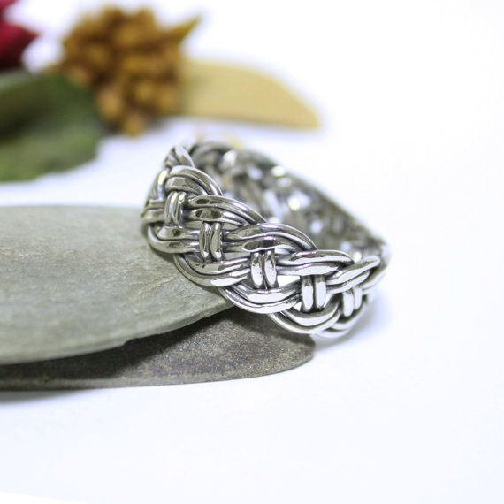 Weave Sterling Silver Wire Ring, Band Ring, Wedding & Engagement ...