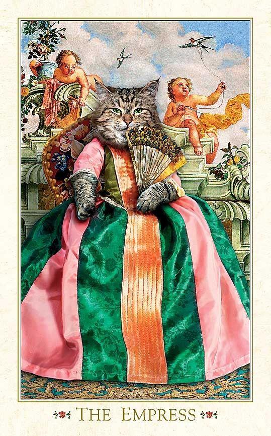 картина кошки карты играют в