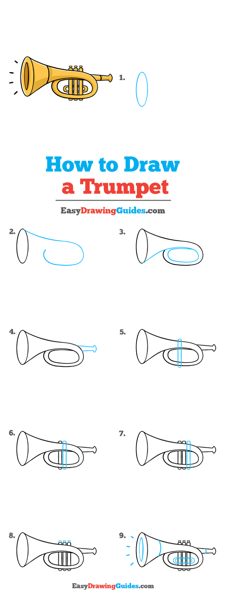 Trumpet Drawing Lesson Free Online Drawing Tutorial For Kids Get The Free Printable Step By Step Drawing In 2020 Drawing Tutorial Drawing Tutorial Easy Easy Drawings